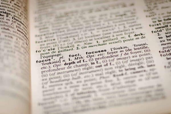 dictionary page focus