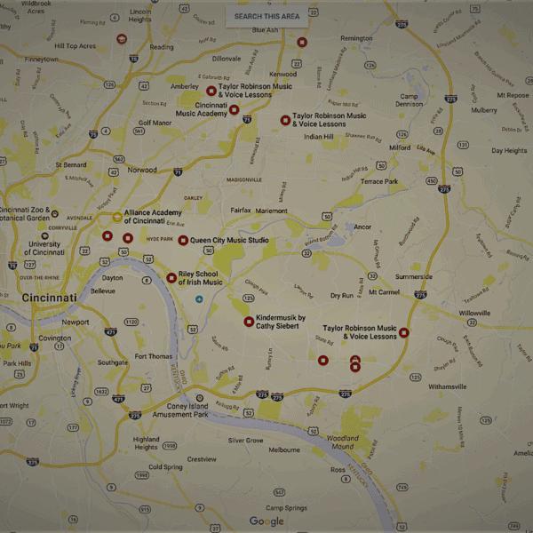 music studios Google Maps