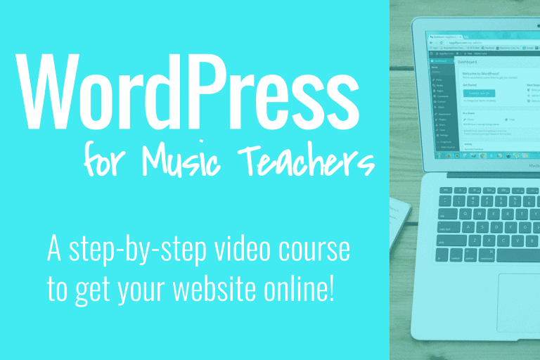 WordPress for Music Teachers course